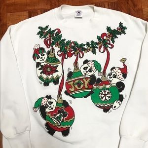 Vintage Panda Ugly Christmas Sweater